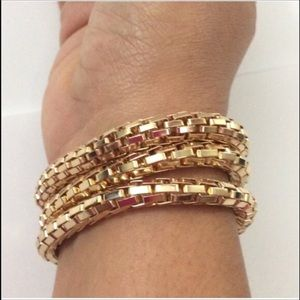 Evolving Always Jewelry - Three Fashion Gold Bangles